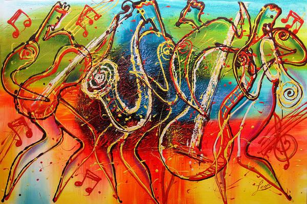 Wall Art - Painting - Bright Jazz by Leon Zernitsky
