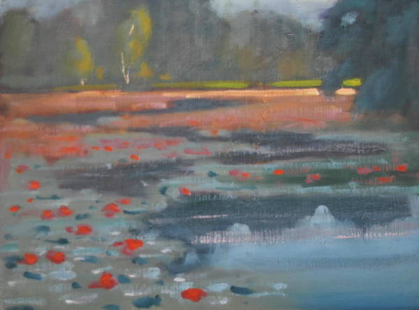 Lilly Pad Painting - Bright Light by Len Stomski