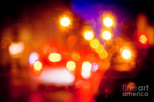 Photograph - Bright Light Of Night Abstract by Raimond Klavins