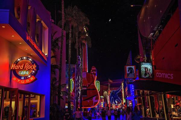 Photograph - Neon Lights And Famous Sights At City Walk by Lynn Bauer