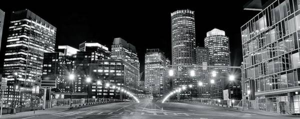 Wall Art - Photograph - Bright Lights Lead Into Boston by Frozen in Time Fine Art Photography