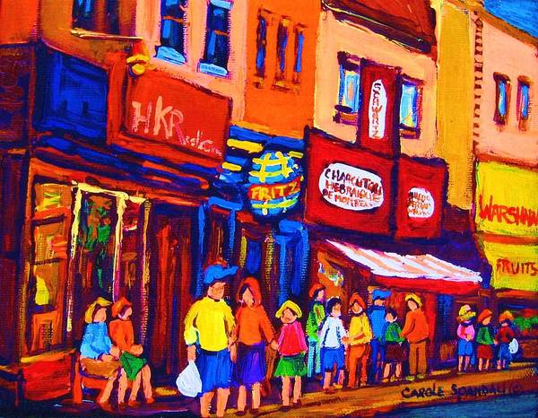 Painting - Bright Lights On The Main by Carole Spandau