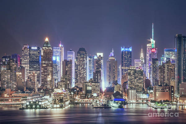 Time Square Wall Art - Photograph - Bright Nights by Evelina Kremsdorf