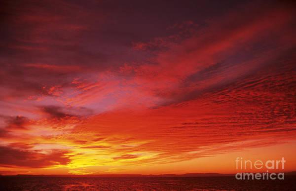Expanse Photograph - Bright Orange Sunset by Larry Dale Gordon - Printscapes