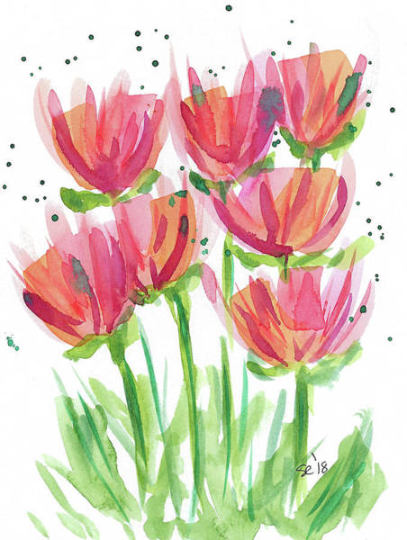 Painting - Bright Pretty Flowers by Susan Campbell