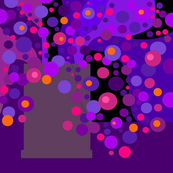 Digital Art - Bright Purple Flowers by Val Arie