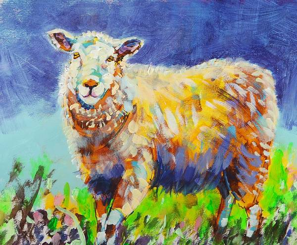 Painting - Bright Sun Sheep Painting by Mike Jory
