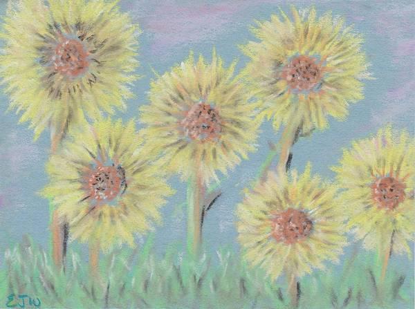 Bright Colours Mixed Media - Bright Sunflowers by Ellen Jenny Watkins