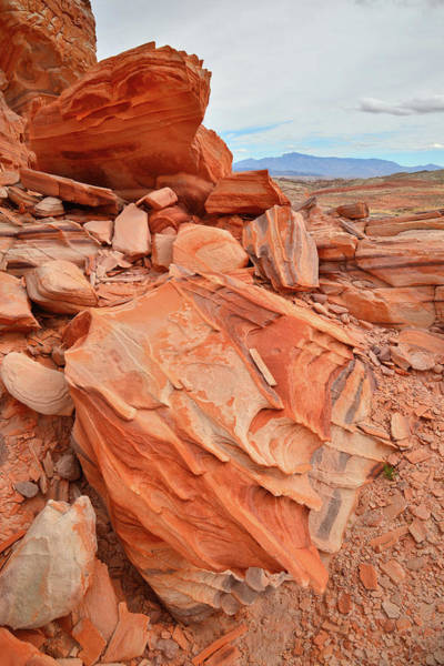 Photograph - Brightly Colored Sandstone In Valley Of Fire by Ray Mathis