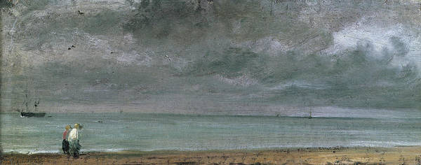 Crt Painting - Brighton Beach by John Constable