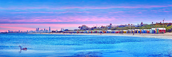 Beach City Photograph - Brighton Beach Sunset by Az Jackson