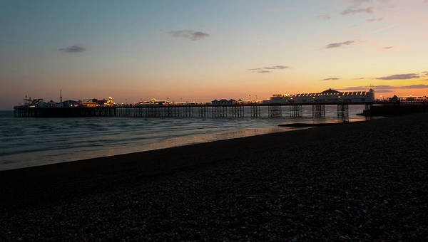 Photograph - Brighton Pier At Sunset II by Helen Northcott