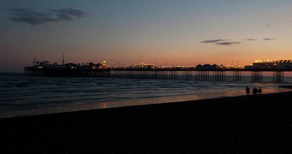 Photograph - Brighton Pier At Sunset IIi by Helen Northcott