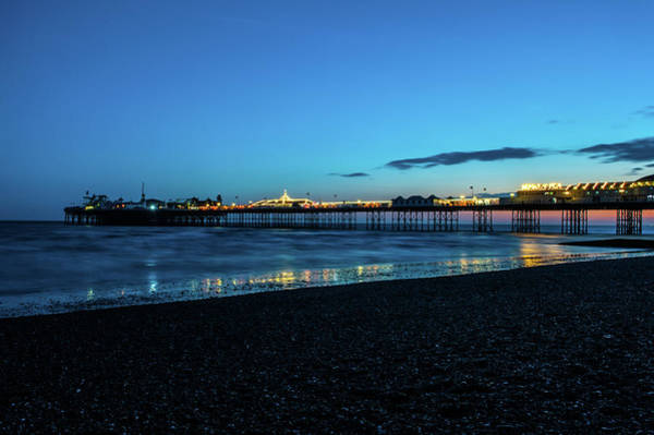 Photograph - Brighton Pier At Sunset Ix by Helen Northcott