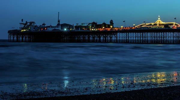 Photograph - Brighton Pier At Sunset Vii by Helen Northcott