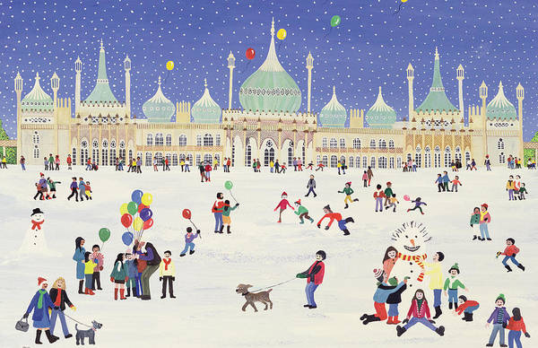 Brighton Painting - Brighton Royal Pavilion  by Judy Joel