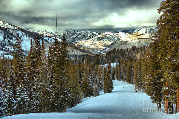 Photograph - Brighton Storm Clouds Over Big Cottonwood Canyon by Adam Jewell