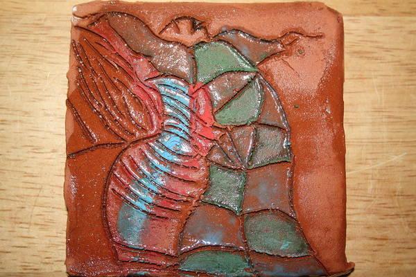 Ceramic Art - Brightspot - Tile by Gloria Ssali
