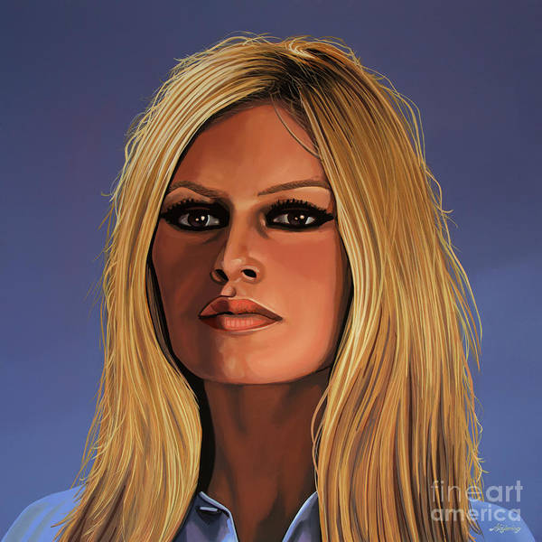 Wall Art - Painting - Brigitte Bardot Painting 3 by Paul Meijering
