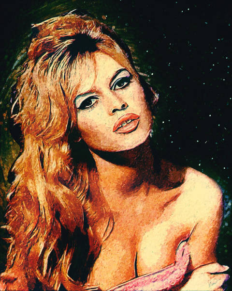 Wall Art - Digital Art - Brigitte Bardot by Zapista Zapista