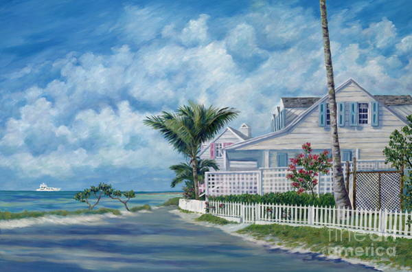 White Picket Fence Painting - Briland Breeze by Danielle  Perry
