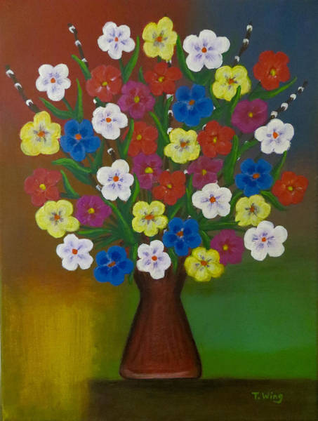 Painting - Brilliant Bouquet by Teresa Wing