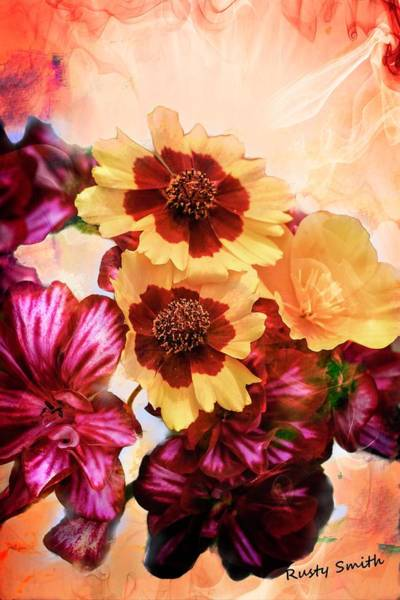 Digital Art - Brilliant Group Of Flowers by Rusty R Smith