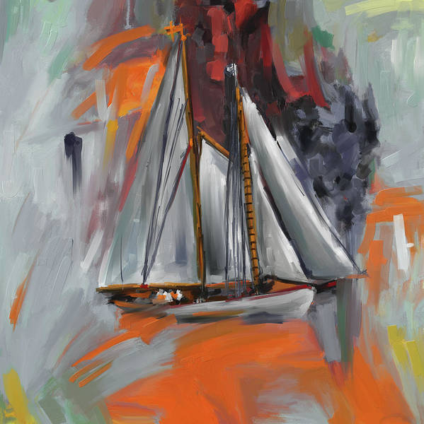 Wall Art - Painting - Brilliant Schooner 289 4 by Mawra Tahreem