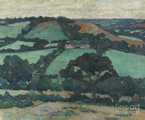 Devon Painting - Brimley Hill, Devon by Robert Polhill Bevan