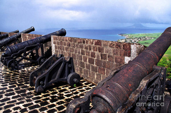 St Kitts Photograph - Brimstone Hill Fortress Canons by Thomas R Fletcher