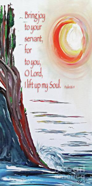 Serenity Prayer Mixed Media - Bring Joy O Lord by Tracy Ann Delfar