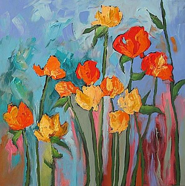 Fauve Painting - Bring Me Some Roses by Linda Monfort