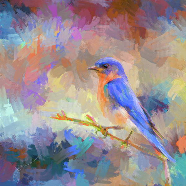 Painting - Bring On The Bluebirds by Jai Johnson