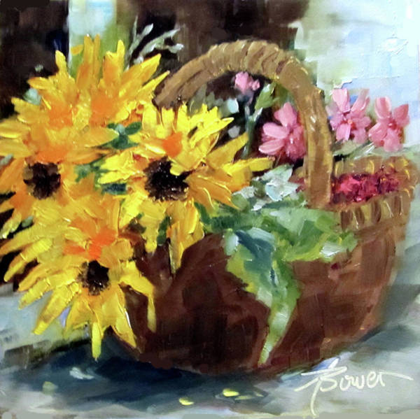 Painting - Bringing In The Sunshine  by Adele Bower