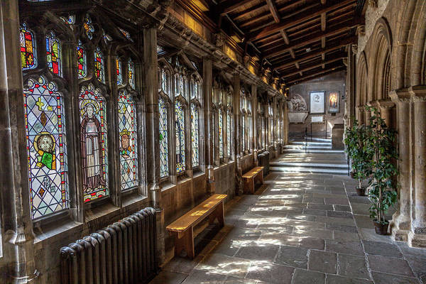 Wall Art - Photograph - Bristol Cathedral Cloister by W Chris Fooshee