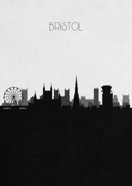 Bristol Wall Art - Digital Art - Bristol Cityscape Art by Inspirowl Design