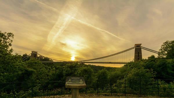 Photograph - Bristol Clifton Suspension Bridge At Golden Hour A by Jacek Wojnarowski