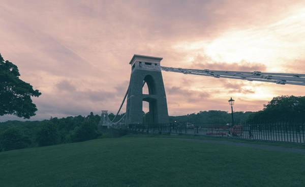 Photograph - Bristol Clifton Suspension Bridge At Golden Hour C by Jacek Wojnarowski