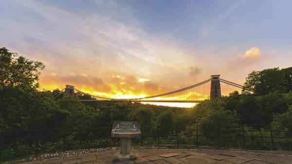 Photograph - Bristol Clifton Suspension Bridge At Golden Hour F by Jacek Wojnarowski