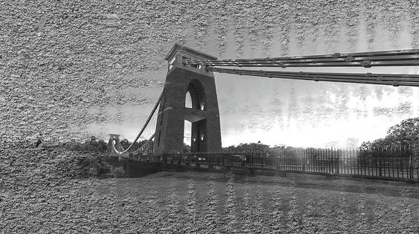 Photograph - Bristol Clifton Suspension Bridge At Golden Hour Fine Art Bw by Jacek Wojnarowski