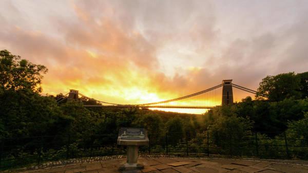 Photograph - Bristol Clifton Suspension Bridge At Golden Hour G by Jacek Wojnarowski