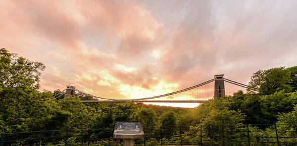 Photograph - Bristol Clifton Suspension Bridge At Golden Hour I by Jacek Wojnarowski