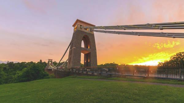 Photograph - Bristol Clifton Suspension Bridge At Golden Hour J by Jacek Wojnarowski