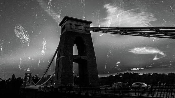 Photograph - Bristol Clifton Suspension Bridge Fine Art Bw by Jacek Wojnarowski