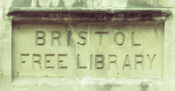 Photograph - Bristol Free Library Carved In A Wall by Jacek Wojnarowski