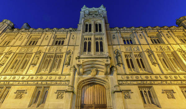 Photograph - Bristol Guildhall By Night by Jacek Wojnarowski