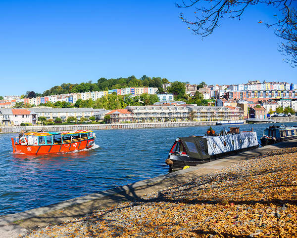 Photograph - Bristol Harbour And Painted Houes by Colin Rayner