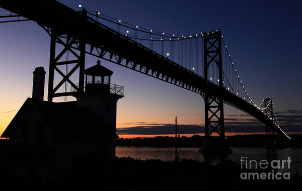Wall Art - Photograph - Bristol Ri Lighthouse  by Jim Beckwith