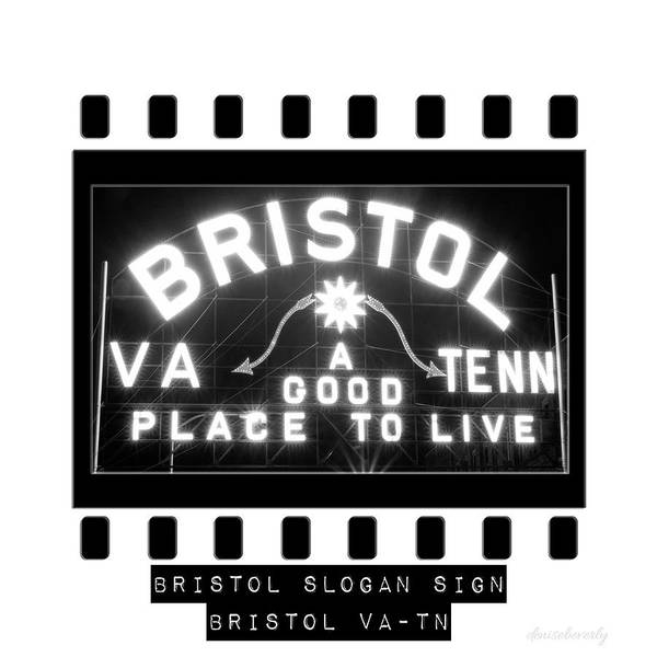 Photograph - Bristol Slogan Sign Virginia Tennessee by Denise Beverly