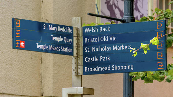 Photograph - Bristol Tourist Information Post by Jacek Wojnarowski